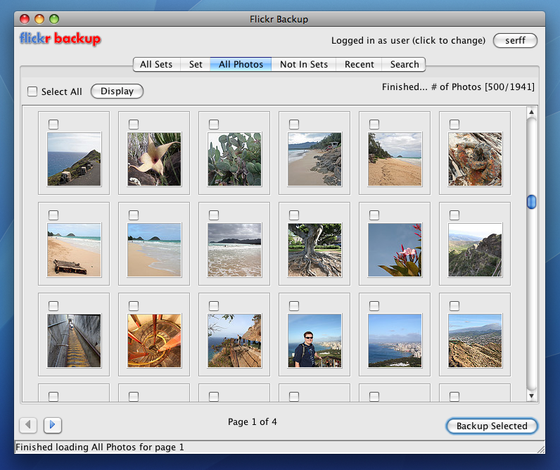FlickrBackup All Photos View